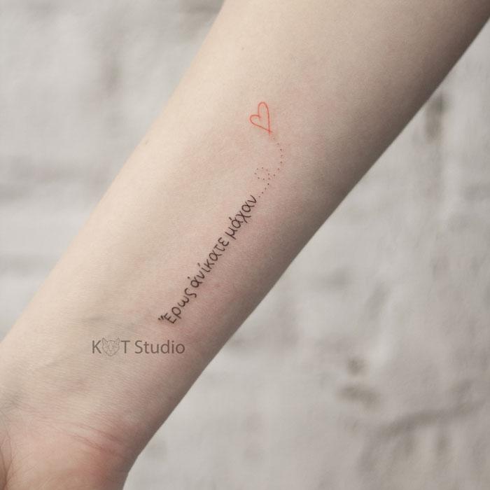 Тату на руку девушке. Тату надпись на руке. Идея женской татуировки 27